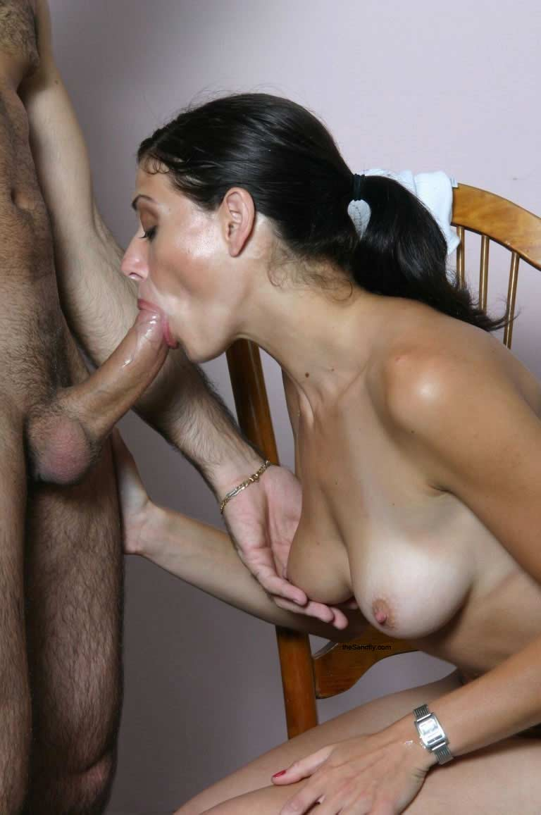 image My gorgeous mother gives my friend his first horny blowjobamateurf70